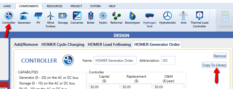 Controller Component in HOMER Pro - microgrid control strategies begin here