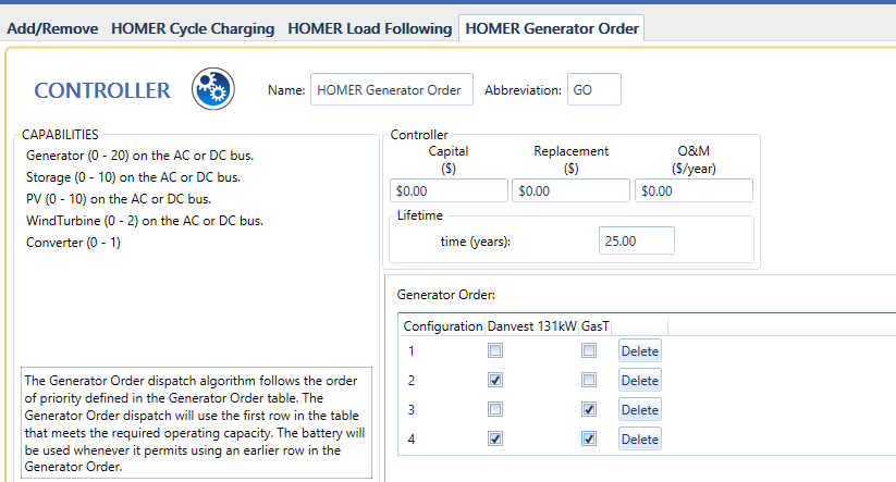 HOMER Generator Order Dispatch provides microgrid control
